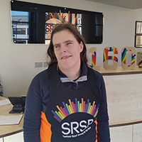 Photo of Louise at SRSB in an SRSB running vest