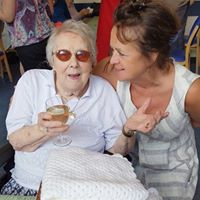 Photo of Rose at SRSB celebrating her 100th birthday