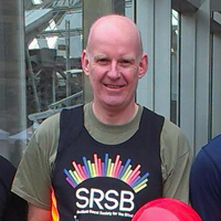 Photograph of Steve at the Yorkshire Half Marathon