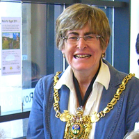 Photograph of the Lord Mayor at an SRSB volunteer party