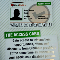 Photo of access card leaflet