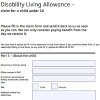 Image of DLA Application form