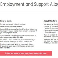 Image of Employment Support Allowance application form