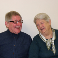 Photograph of Jean and Peter at an SRSB social evening