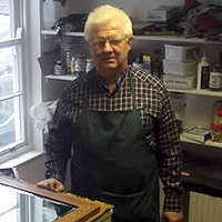 Photograph of Graham in his studio