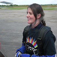 Photograph of Hayley at the Skydive 2012