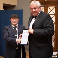 Photo of Martin receiving award
