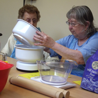 Photograph of SRSB clients in cooking group