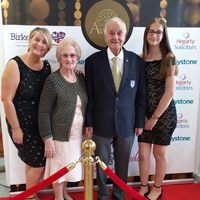 Graham with his family at the awards