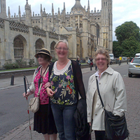 Photograph of visitors to Cambridge