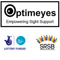 Optimeyes, Lottery and SRSB logo