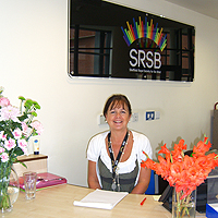 Photograph of SRSB receptionist