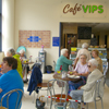 Photograph of clients in Cafe VIPs