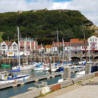 Photo of harbour at Scarborough with boats