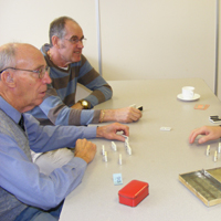 Photograph of clients at Deafblind Group