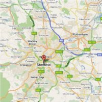Image of map of Sheffield area