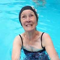 Photo of someone in the swimming pool at Hathersage