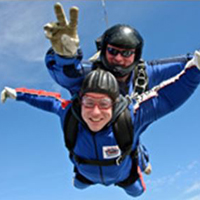 Photogrpah of Steve doing the skydive