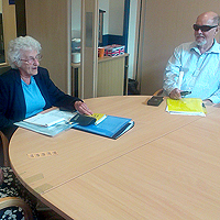 Photograph of SRSB clients in Charles Bonnet Syndrome Support Group meeting