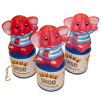 Photograph of elephant collection tins