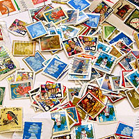 Photograph of stamps