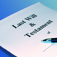 Photograph of a will