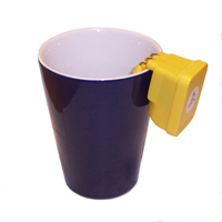 Photograph of a liquid level indicator on a mug