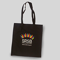 Photograph of SRSB tote bag
