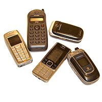 Photograph of mobile phones