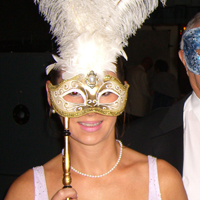 Photograph of a guest at SRSB Masquerade Ball in 2011
