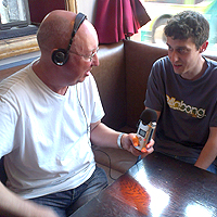 Photograph of interview with Tramlines