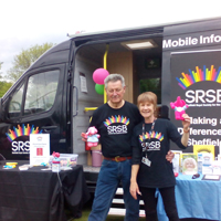 Photograph of Mobile Information Unit at previous event